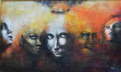 """""""Streghe"""" -Quadro acrilico di Aurora Mazzoldi - un esempio di personalità diverse"""