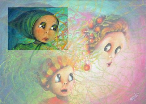 Aurora Mazzoldi - L'Imprevisto - acrilico su tela libera elaborazione che evidenzia il giudice interiore