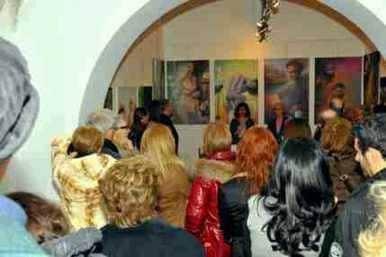 """Foto per biografia. Aurora Mazzoldi e Antonella Giannini presentano il libro """"Le Mie Madri"""" alla Galleria La Pigna - Roma (foto Roberto Zeni)"""