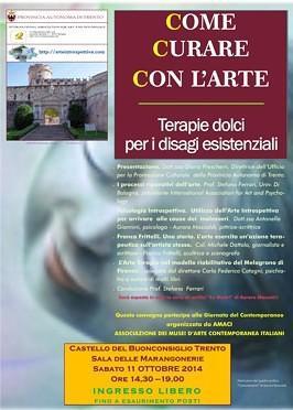 """Manifesto del convegno """"Come Curare Con l'arte"""""""