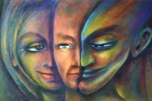 Aurora Mazzoldi - Triplo Viso - pittura acrilica. Come osservare consapevolmente le varie parti del nostro mondo emotivo?
