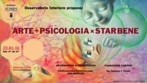 Officina del Benessere dell'Osservatrio Interiore. Poster di conferenza Arte + Psicologia x Star bene presso Fondazione CARITRO, Trento