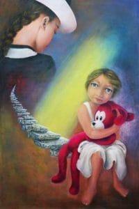 Solitudine interiore nel quadro di Aurora Mazzoldi - Le Madri - Madre 6