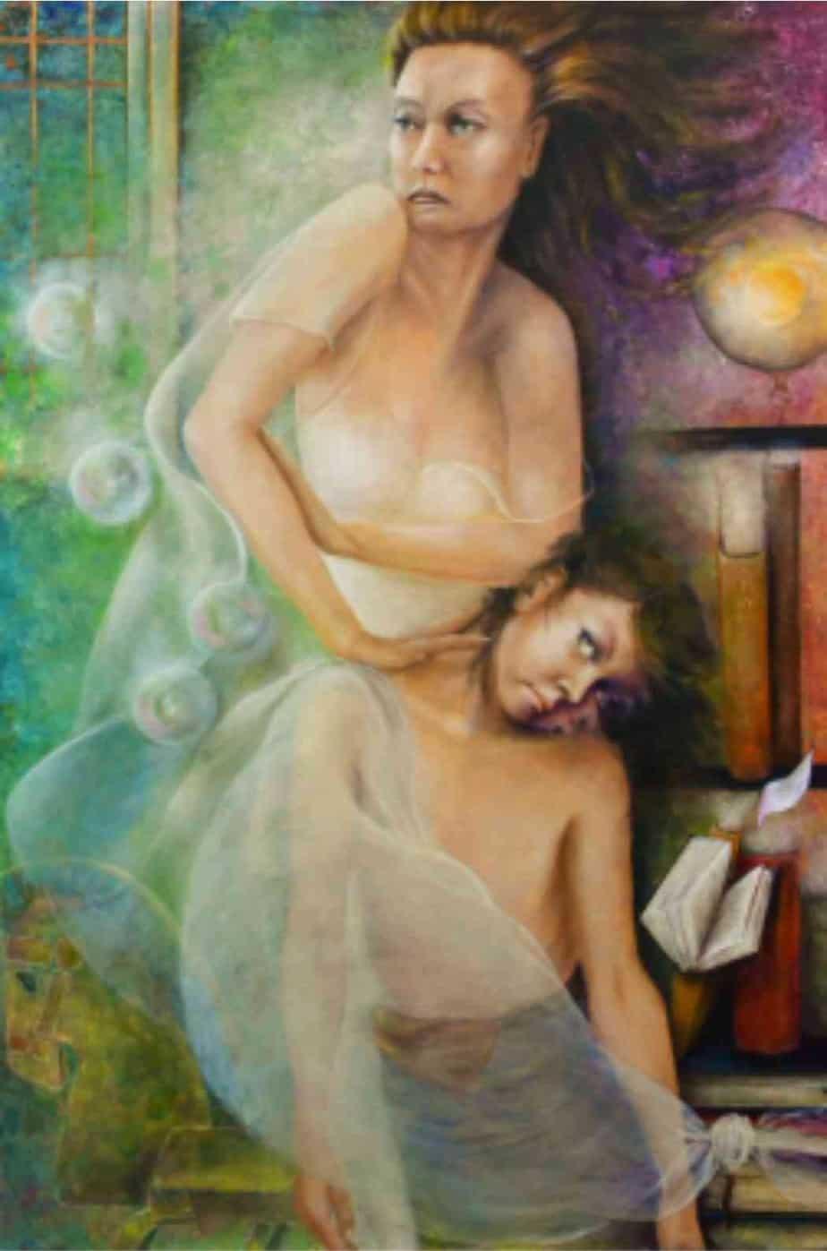 Aurora Mazzoldi - Madre 2 - L'Oppressione - acrilico su tela