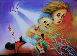 """Aurora Mazzoldi - """"L'offuscamento"""" (esempio di sabotatore interiore) acrilico su tela"""