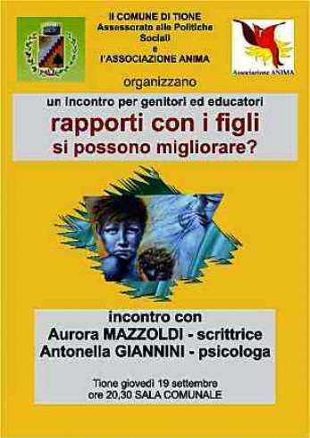 Tione (TN) - 2013 - conferenza di Antonella Giannini e Aurora Mazzoldi