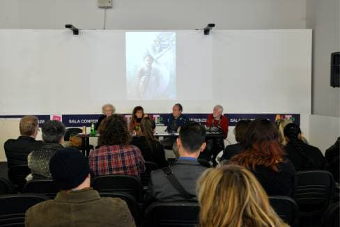 Aurora Mazzoldi e Antonella Giannini. Conferenza ad Arte Padova 2013 – foto Roberto Zeni