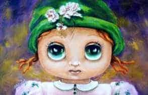 Aurora Mazzoldi - Olivia - acrilico su pannello telato. Nella pagina di Esperienze Profonde dell'Osservatorio Interiore