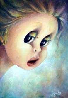 """Aurora Mazzoldi - Attori -Lauren - acrilico su tela. Utilizzato nella pagina dell'Osservatorio Interiore """"percorso per trovare noi stessi"""""""