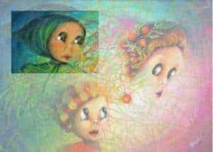 """Aurora Mazzoldi; L'Imprevisto; acrilico su tela. Elaborazione: """"severi con se stessi"""""""