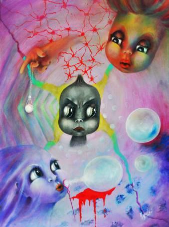 Aurora Mazzoldi - Il Potere del No - acrilico su tela (cm. 60x 80)