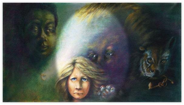 """""""La Scelta"""" acrilico su tela di Aurora Mazzoldi (particolare per la pagina """"Chi ha scelto per me?)"""