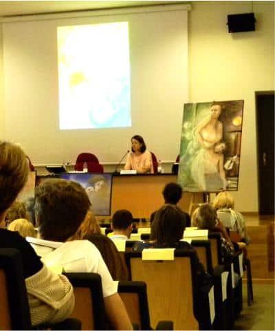 Conferenza 13/10/18 - Trento, Facoltà di Sociologia. Magalì Fia parla di prezzo e qualità.